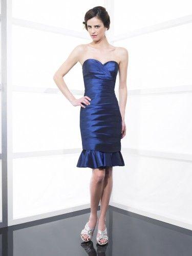 Taffeta Sweetheart Neckline Short Sheath Bridesmaid Dress ...