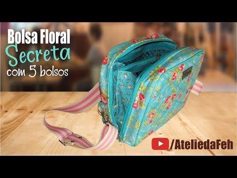 DIY Bolsa Floral Secreta com 5 bolsos