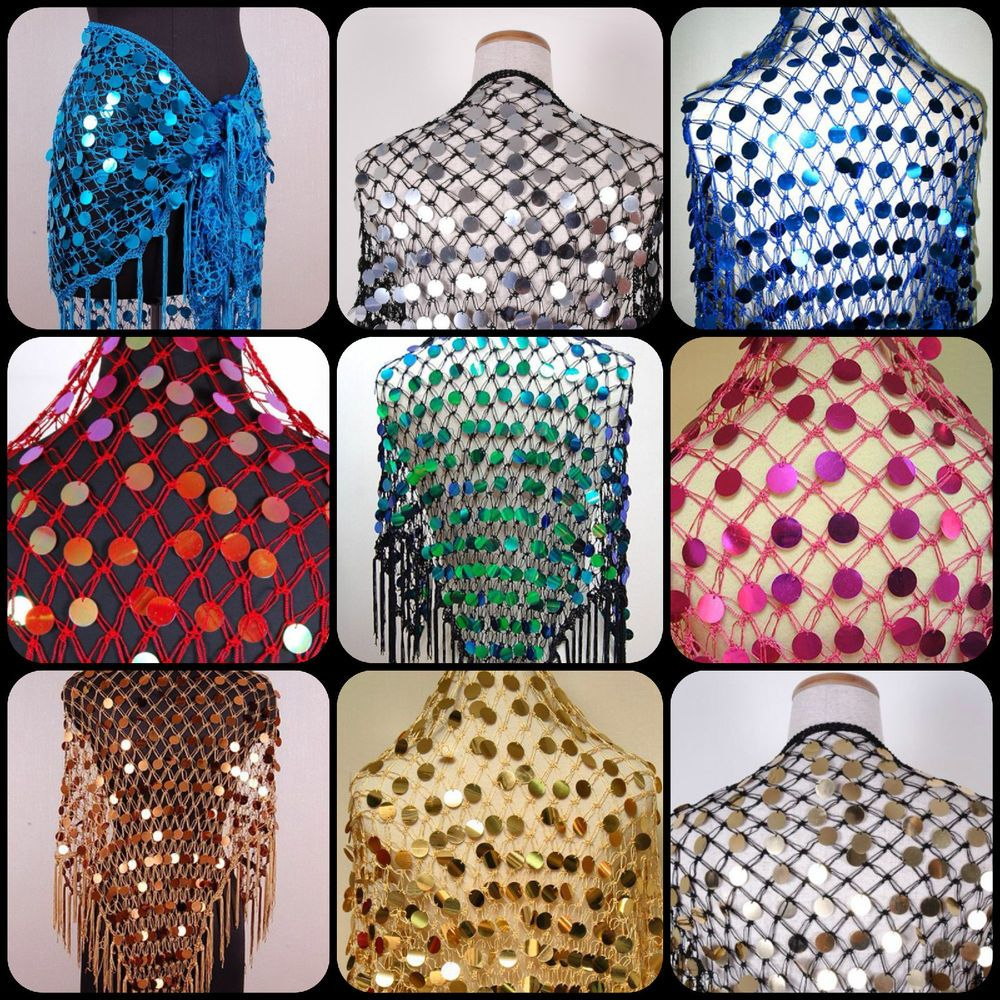 Crochet net triangular hip scarf with large payette sequins belly crochet net triangular hip scarf with large payette sequins belly dance bankloansurffo Gallery