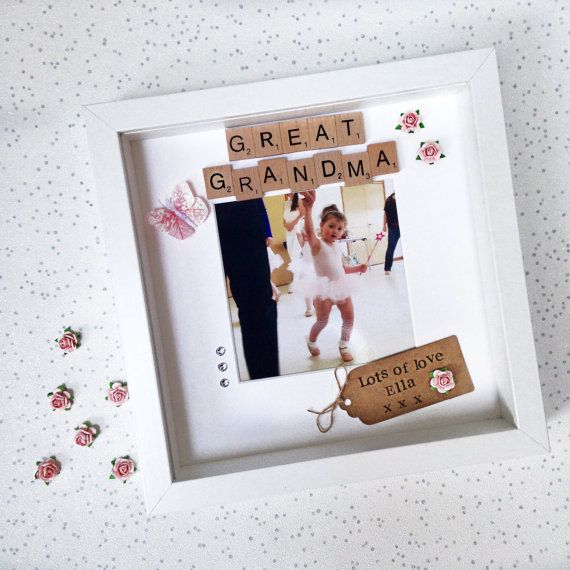 great grandma frame personalised scrabble photo frame for nana nanny granny