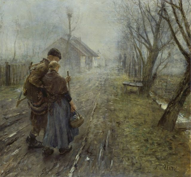 Fritz von Uhde (1848-1911): El viaje difícil, 1890