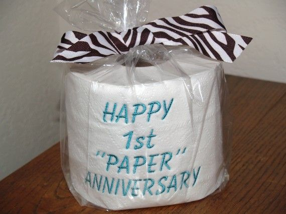 St wedding anniversary joke gift i think i want to do this