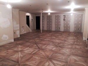 Wood Look 2 0 Installation Parquet Basement Living Rooms