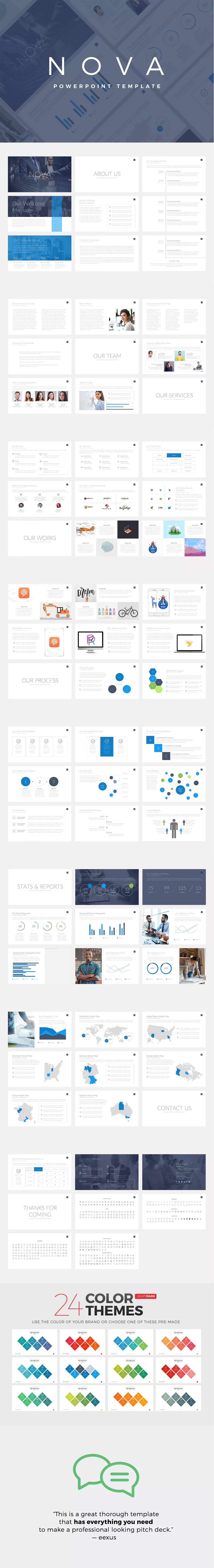 nova business powerpoint template pitch deck powerpoint