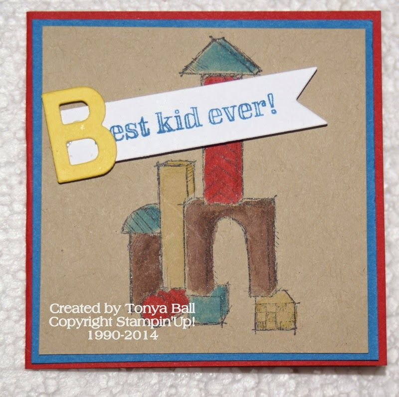 Boys will be Boys Stamp Set, a 3x3 card is perfect for a birthday gift.