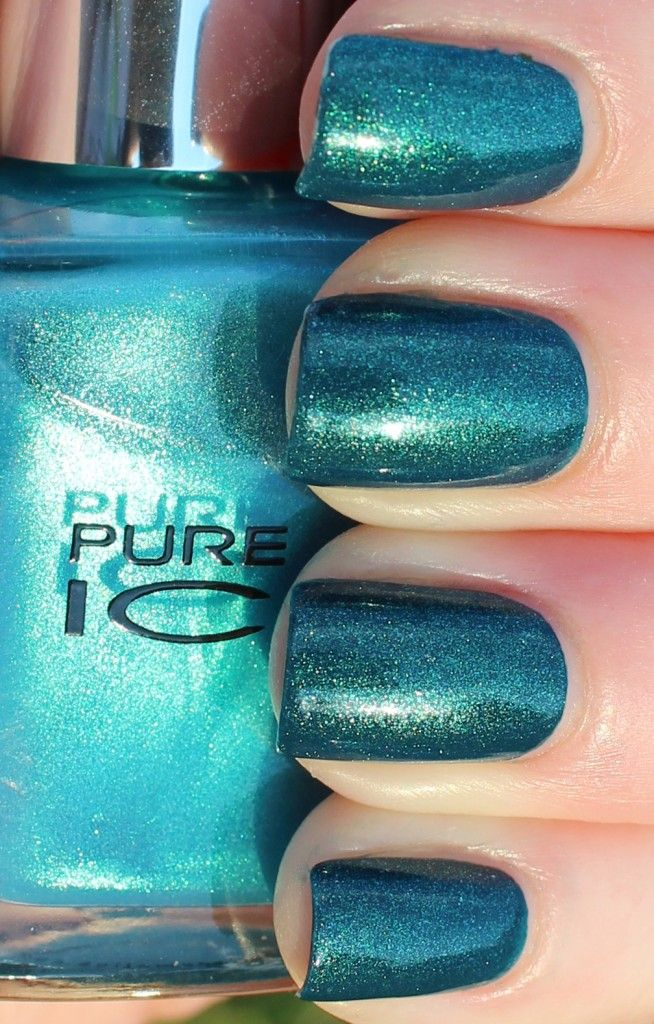 Opi Pure 18k Strikes Again For Easter Egg Nails This Time: OPI Ski Teal We Drop And Pure Ice Heartbreaker