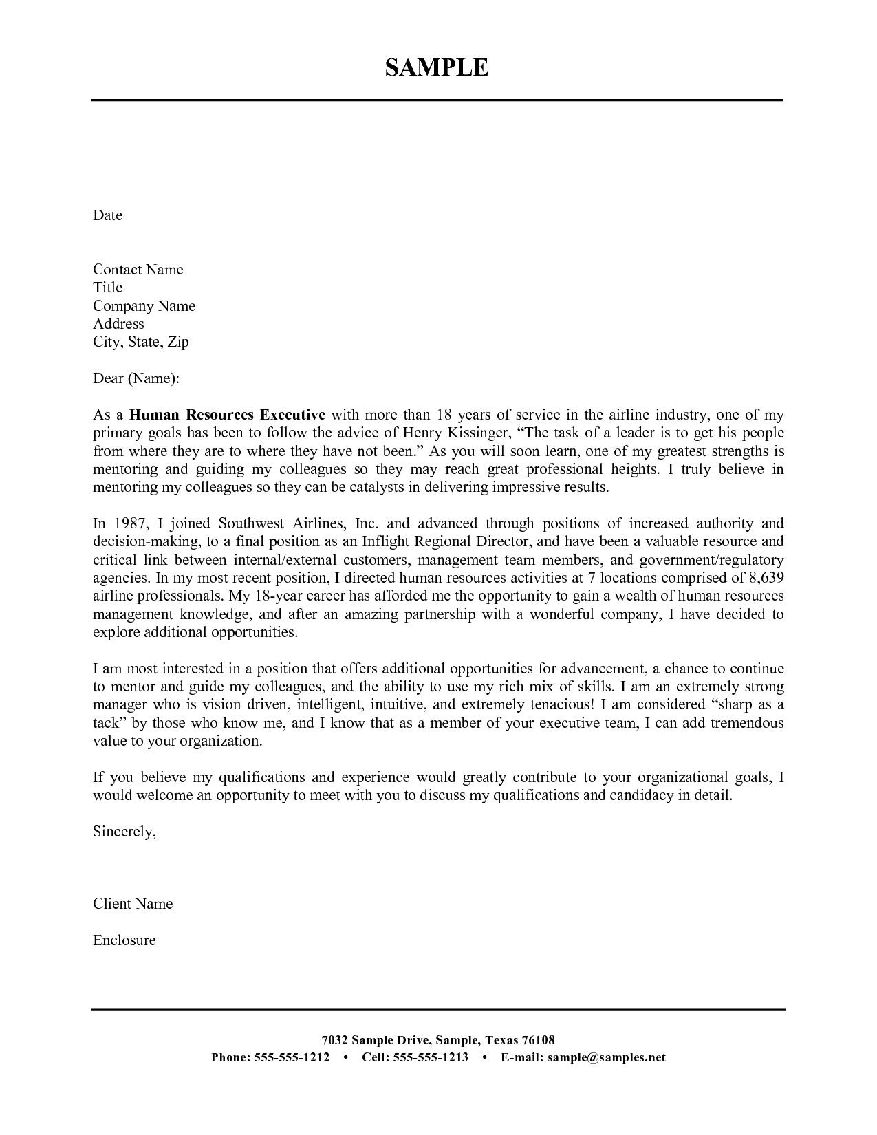 The Best Resume Cover Letter Cover Letter For Resume Resume Cover Letter Examples Cover Letter Template Free