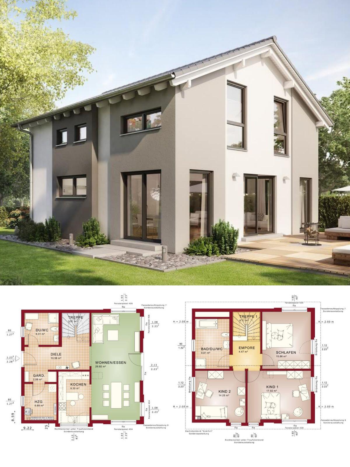 Klassisches Einfamilienhaus Mit Satteldach Architektur Und