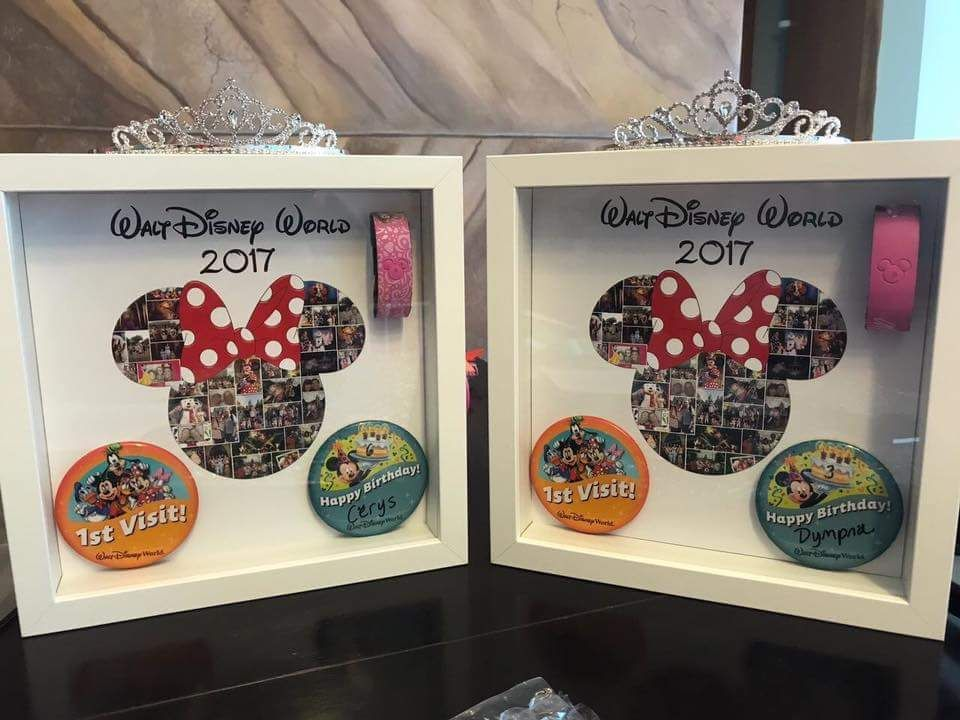 Disney Mickey Mouse shape photo collage box framed canvas print ready to hang