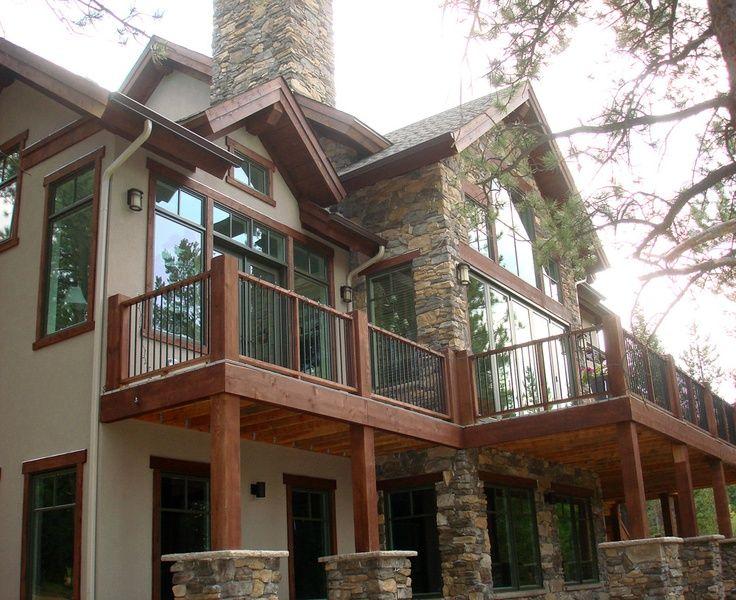 Dickson Mountain Home Evergreen Colorado Basement House Plans Bungalow Landscaping Bungalow Floor Plans