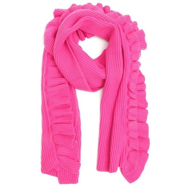 Pink Ruffle Scarves