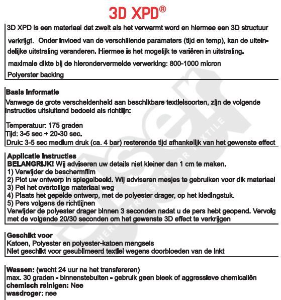 3D XPD Siser