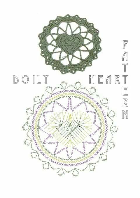 Corazón   Crochet, puntos, diagramas y tutoriales   Pinterest ...