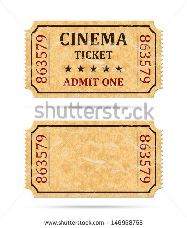 retro-cinema-ticket Movie Marathon Ideas Pinterest Cinema - admit one ticket template