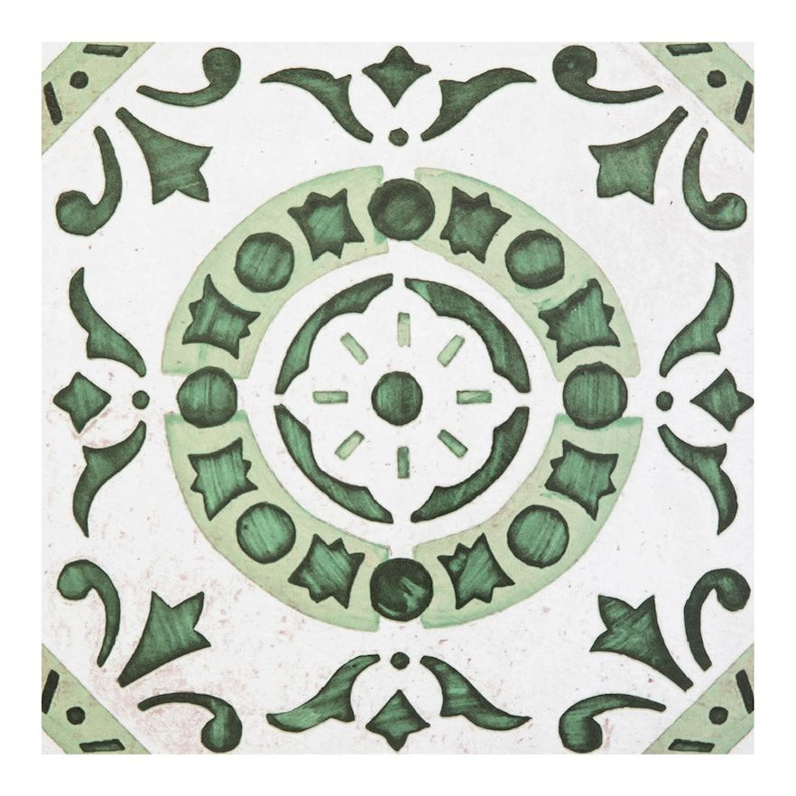 Achim Retro Green Medallion 12x12 Self Adhesive Vinyl Floor Tiles Set Of 20 In 2020 Vinyl Flooring Retro Vinyl Flooring Peel And Stick Floor