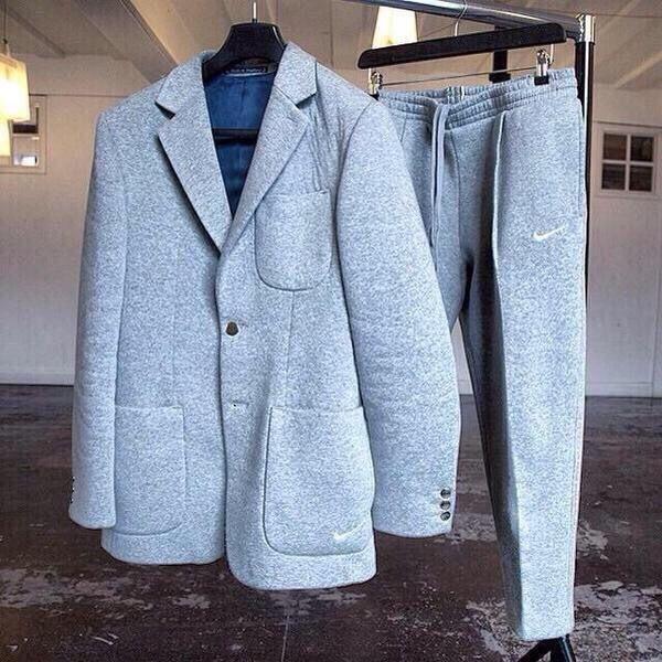 Grey Marle ~ Nike Suit