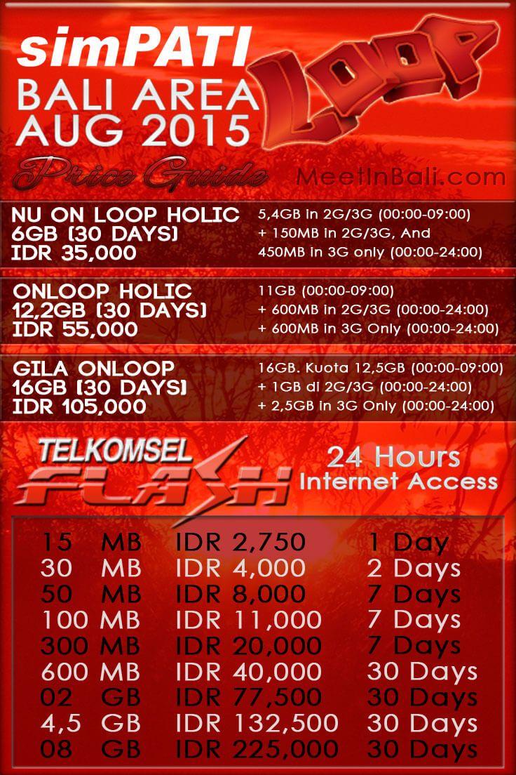 Prepaid Simcard You Can Use In Bali This Is Telkomsel Loop Data 2gb Packages