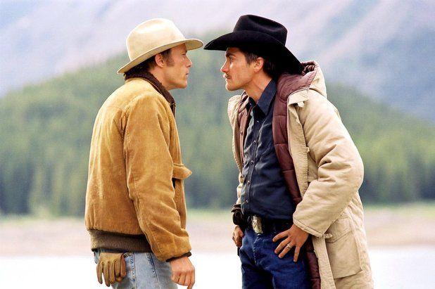 Ennis Del Mar (Heath Ledger) and Jack Twist (Jake Gyllenhaal) inBrokeback Mountain (2005)