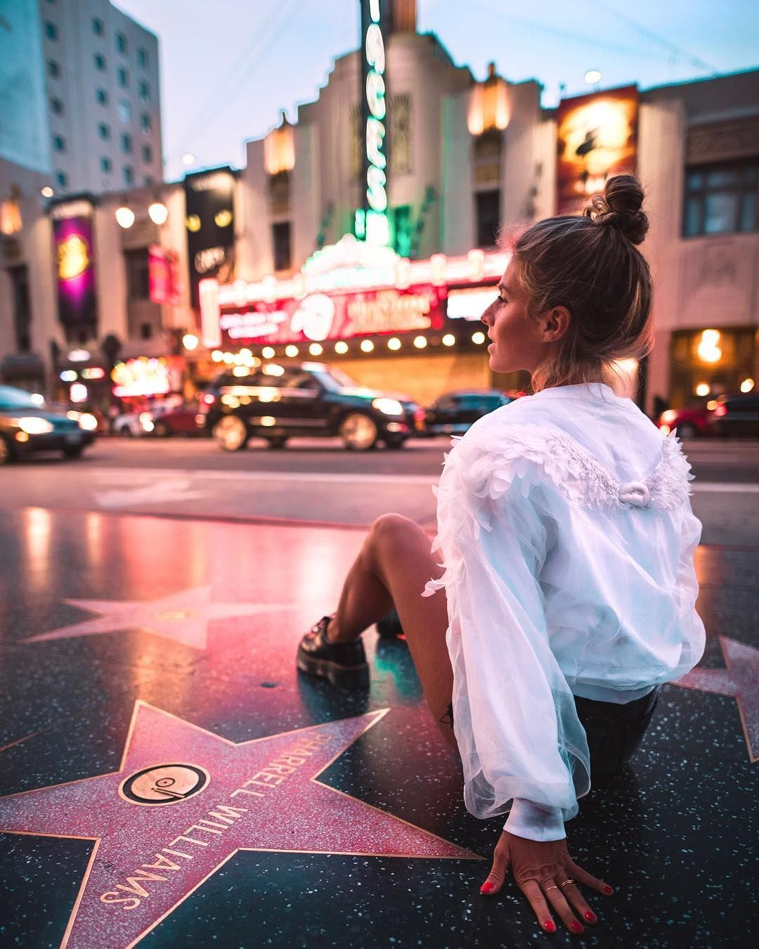 Hollywood Walk Of Fame Debi Flugge Matching With The City Of Angels In Misssixty Misssi Los Angeles Pictures California Photography California Pictures