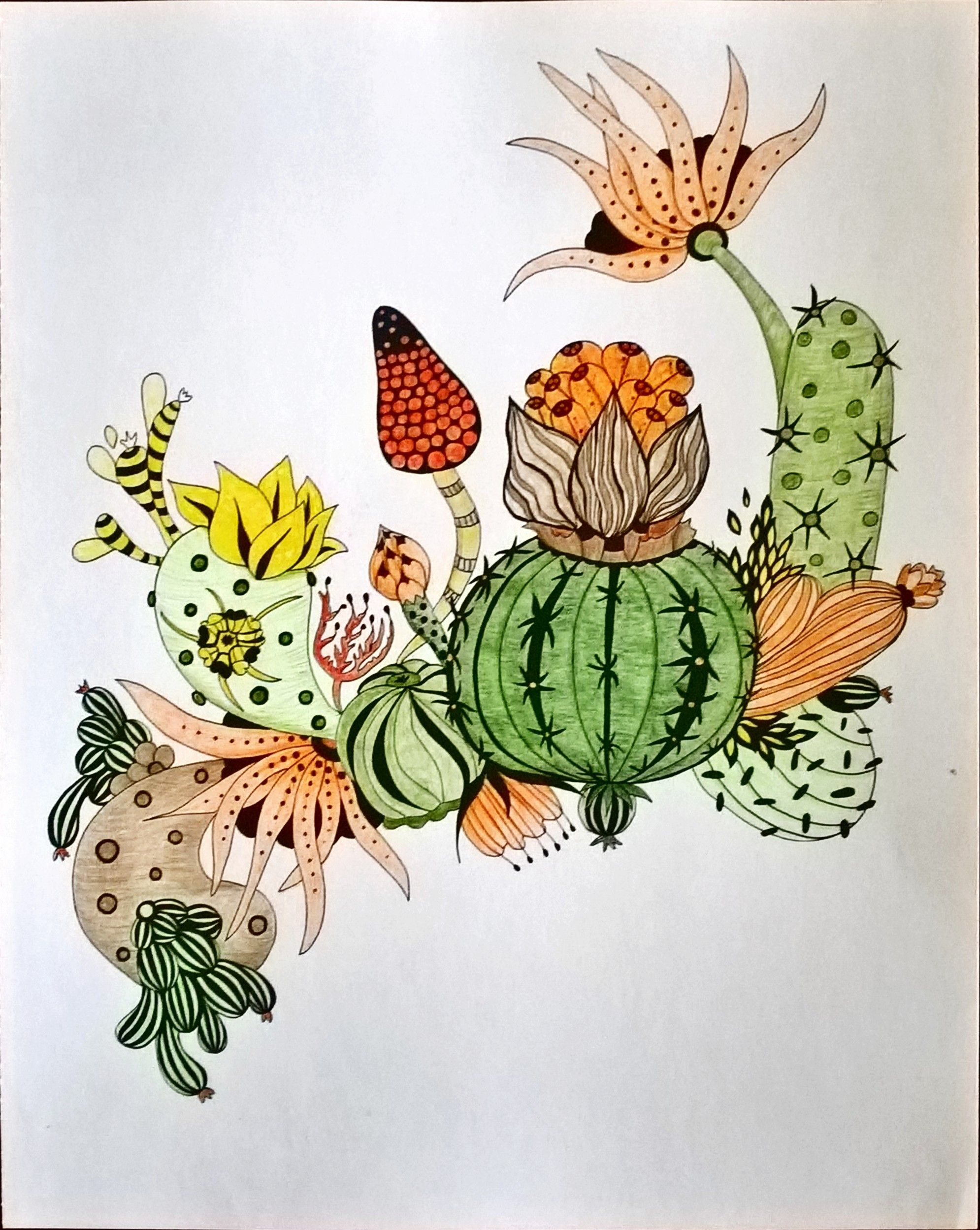 The zoology coloring book - Adult Coloring From Book Botanical Wonderland