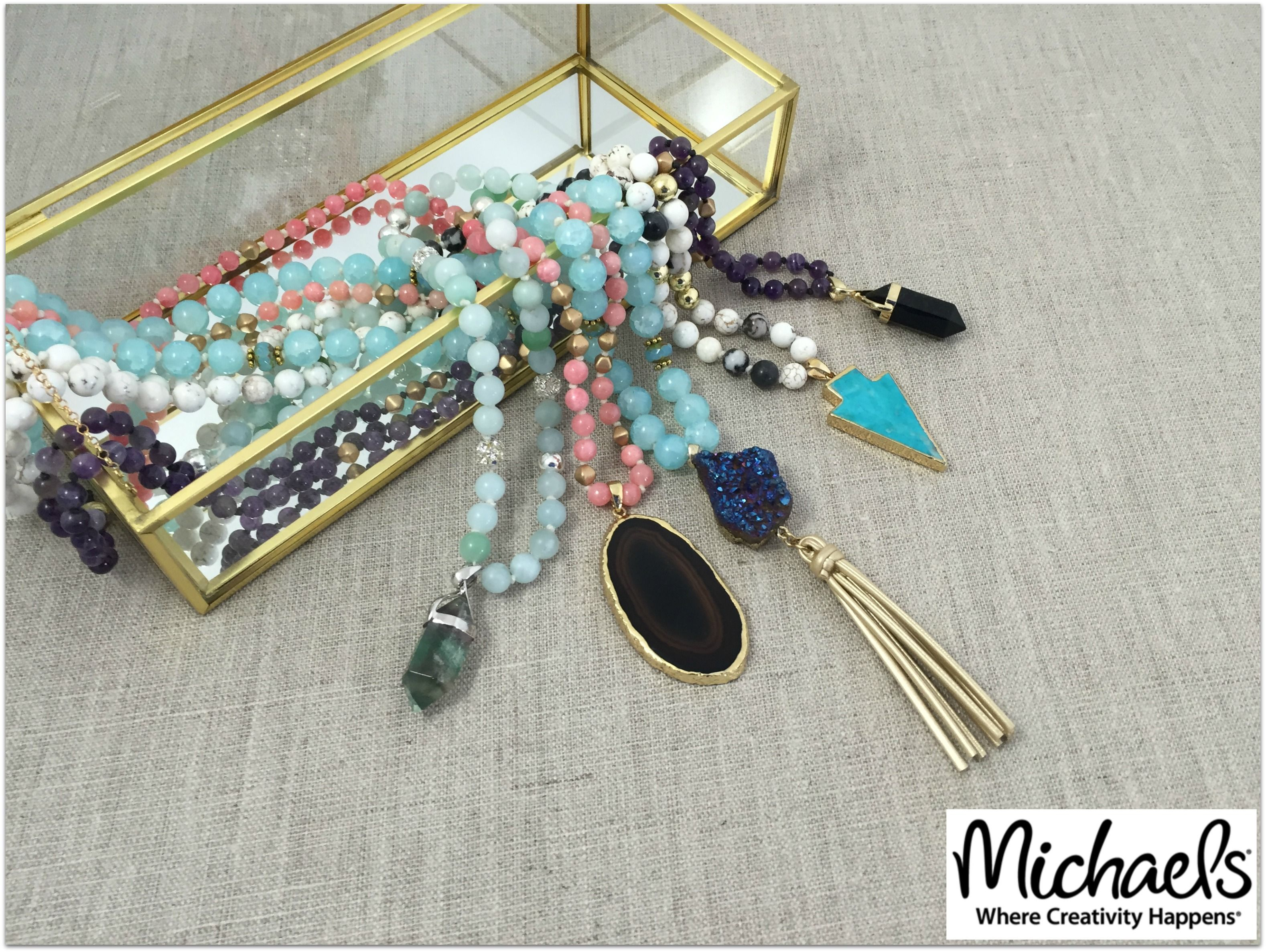 Make your own knotted necklaces with beadgallery and sedona make your own knotted necklaces with beadgallery and sedona pendants from michaels aloadofball Image collections