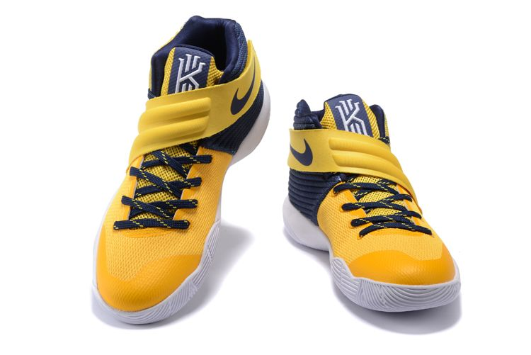 premium selection 93781 70d31 NIKE KYRIE 2 YELLOW NAVY BLUE BASKETBALL SHOES 852417 013 ...