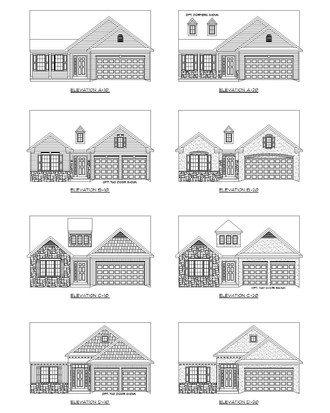 The Coventry Elevation Options By Garman Builders Custom Homes Custom Home Builders New Homes For Sale