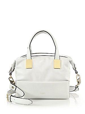 Luana Italy Circe Mini Leather Satchel - White