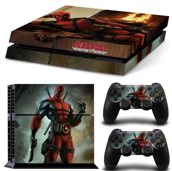Cool Deadpool Sticker for PS4 skin PVC vinyl skin cover OEM PS4 Playstation 4 video games skin sticker Controller PS4 game