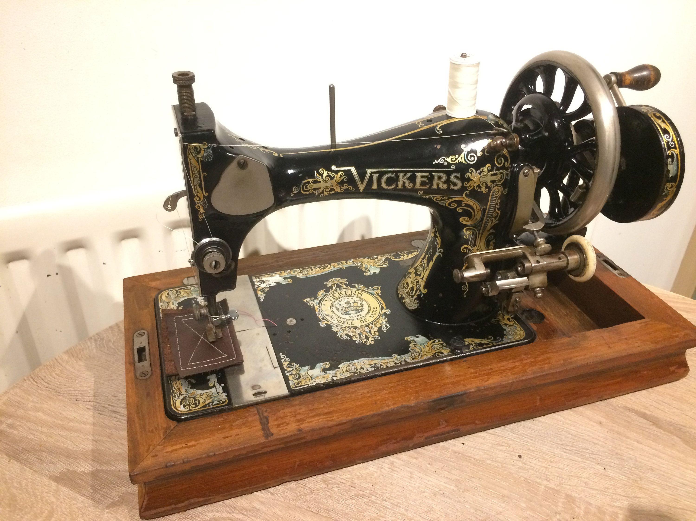 Massive Vickers Modele De Luxe Antique Sewing Machine