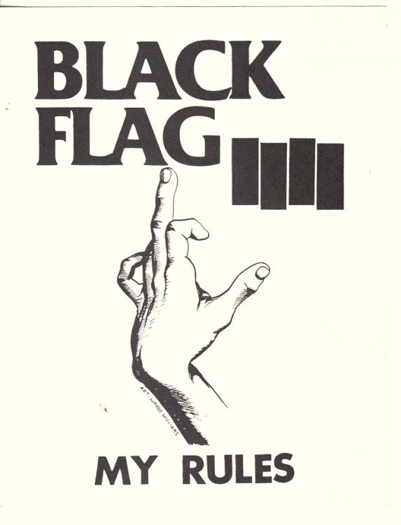 Black Flag My Rules Sticker Punk Poster Punk Art Black Flag