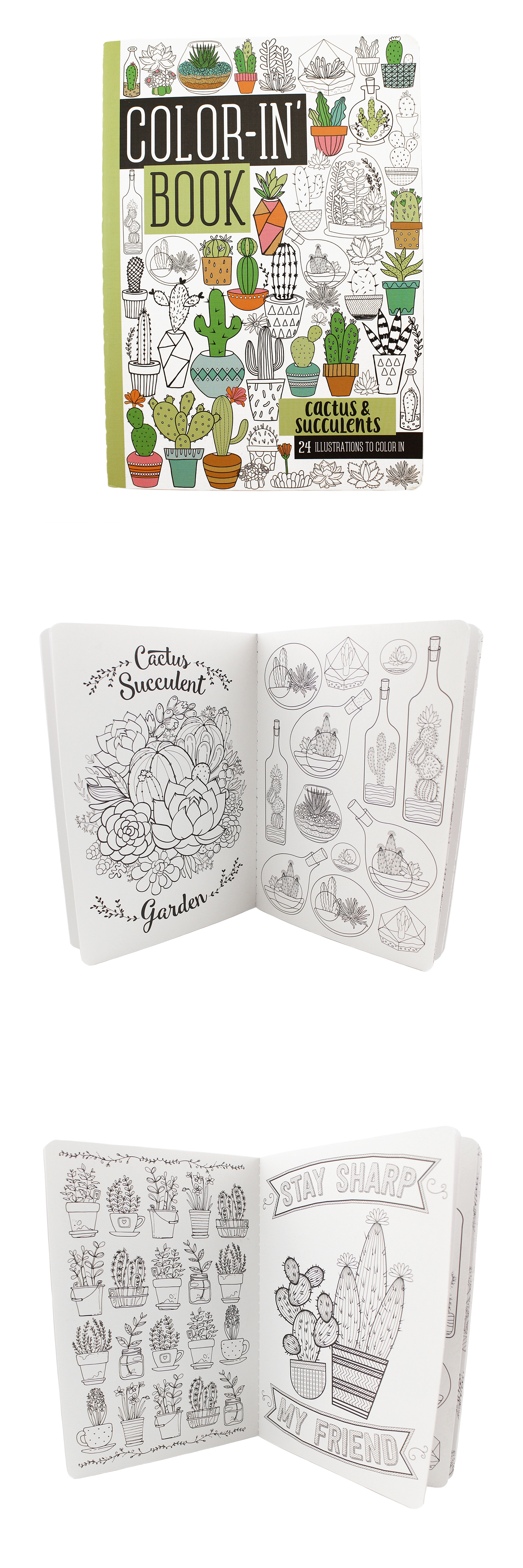 Check Out Our Brand New Travel Size Coloring Book For Adults 24 Pages Of Whimsical Cactus And Succulen Coloring Books Love Coloring Pages Travel Size Products