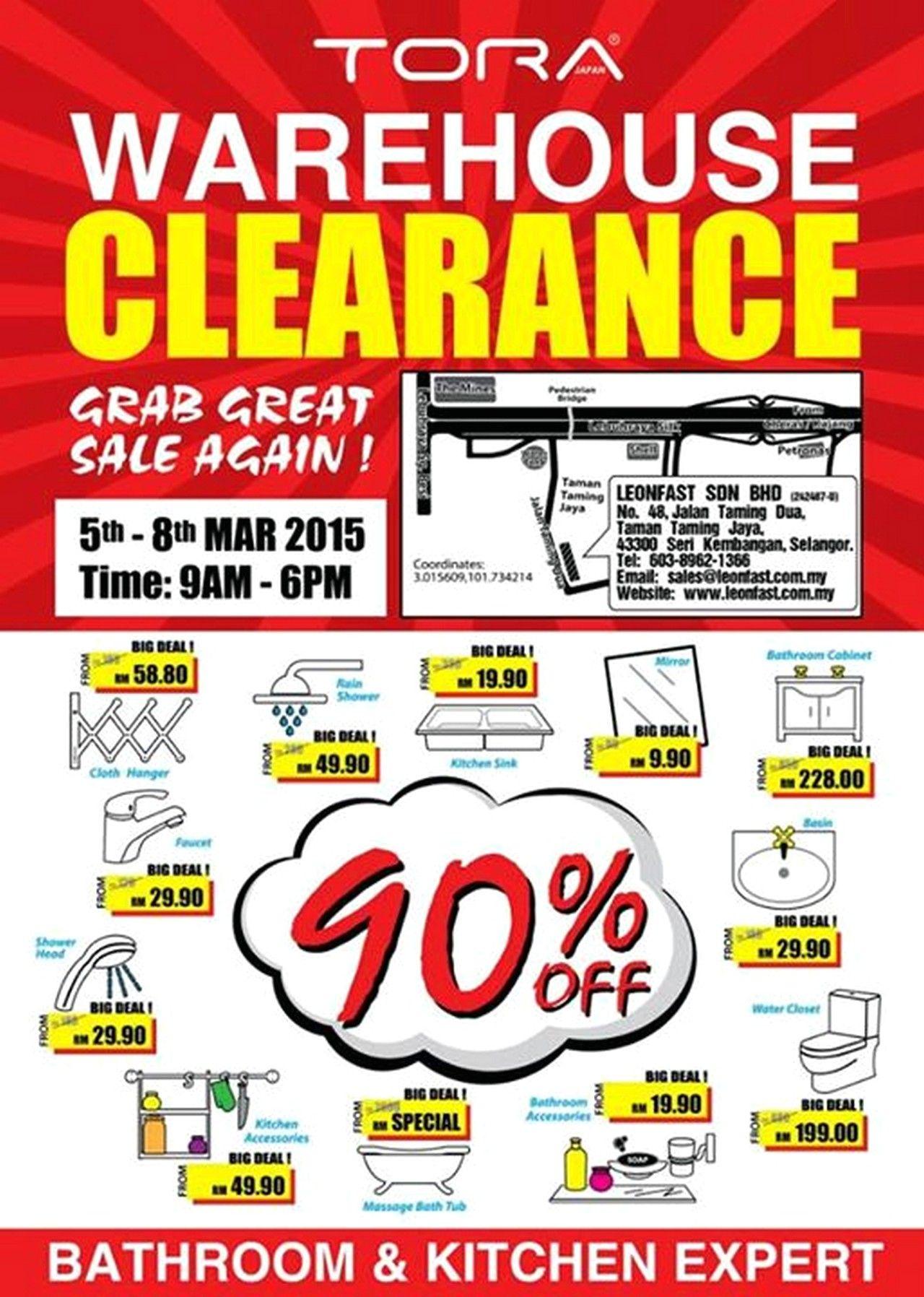 3eda816d86f 5-8 Mar 2015: TORA Warehouse Sale for Bathroom & Kitchen Clearance ...