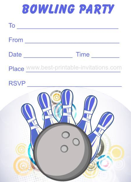 bowling party invitation template \u2013 atomichouse