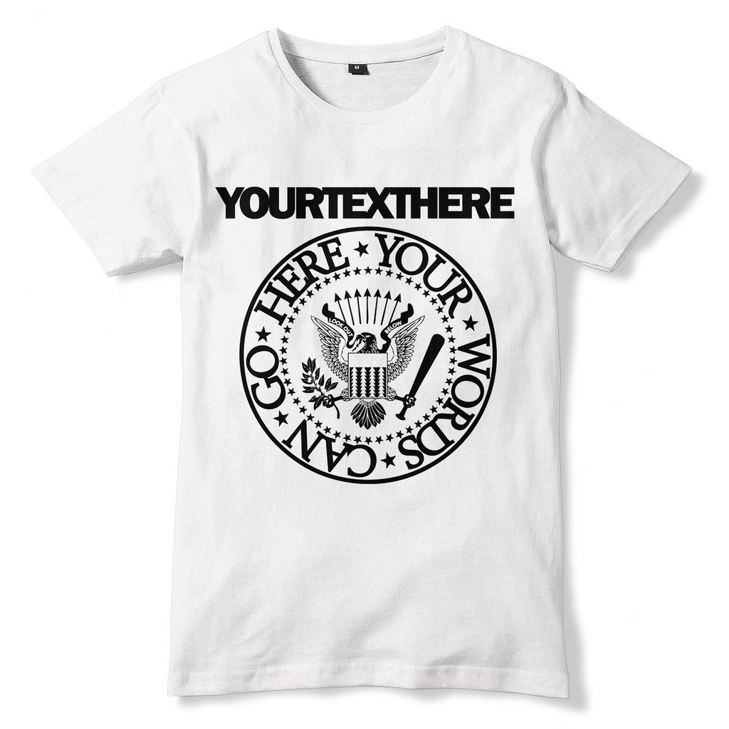 48e8b401 Personalised RAMONES Style T-Shirt - Sublimation Print | Orchestra ...