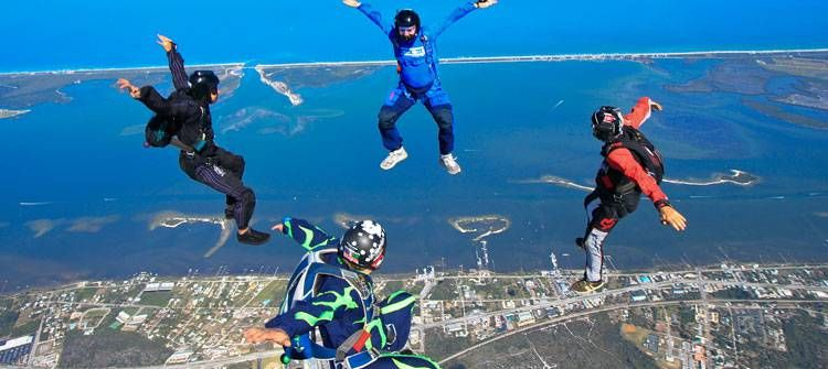 Skydiving Over a Beach Florida | skydiving links skydive on