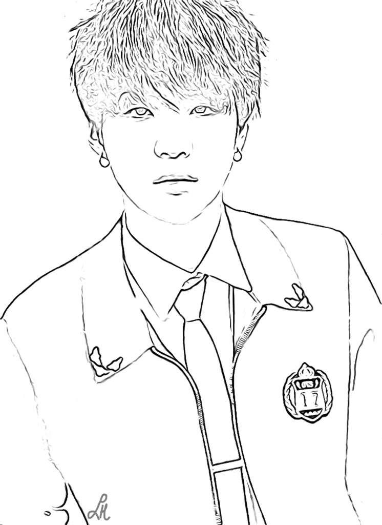 Bts Coloring Pages Kpop Amino Coloring Pages Color