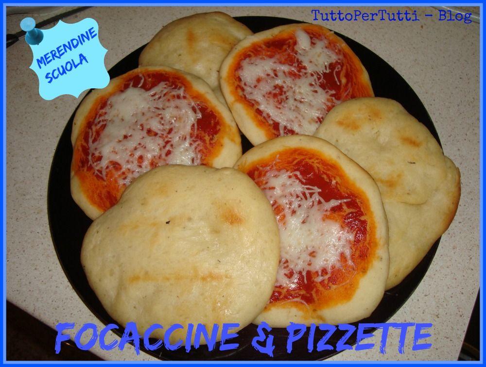 Tuttopertutti focaccine pizzette merendine scuola le for Ricette per tutti i giorni della settimana