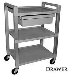 Ideal Products 3 Shelf Poly Cart