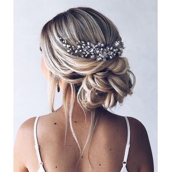 """CARMEN"" LARGE BRIDAL HAIR COMB - SILVER in 2020 