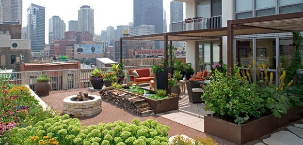 Rooftop Gardens: Ancient Idea   Modern Benefits   Modern Urban Roof Garden    Patio