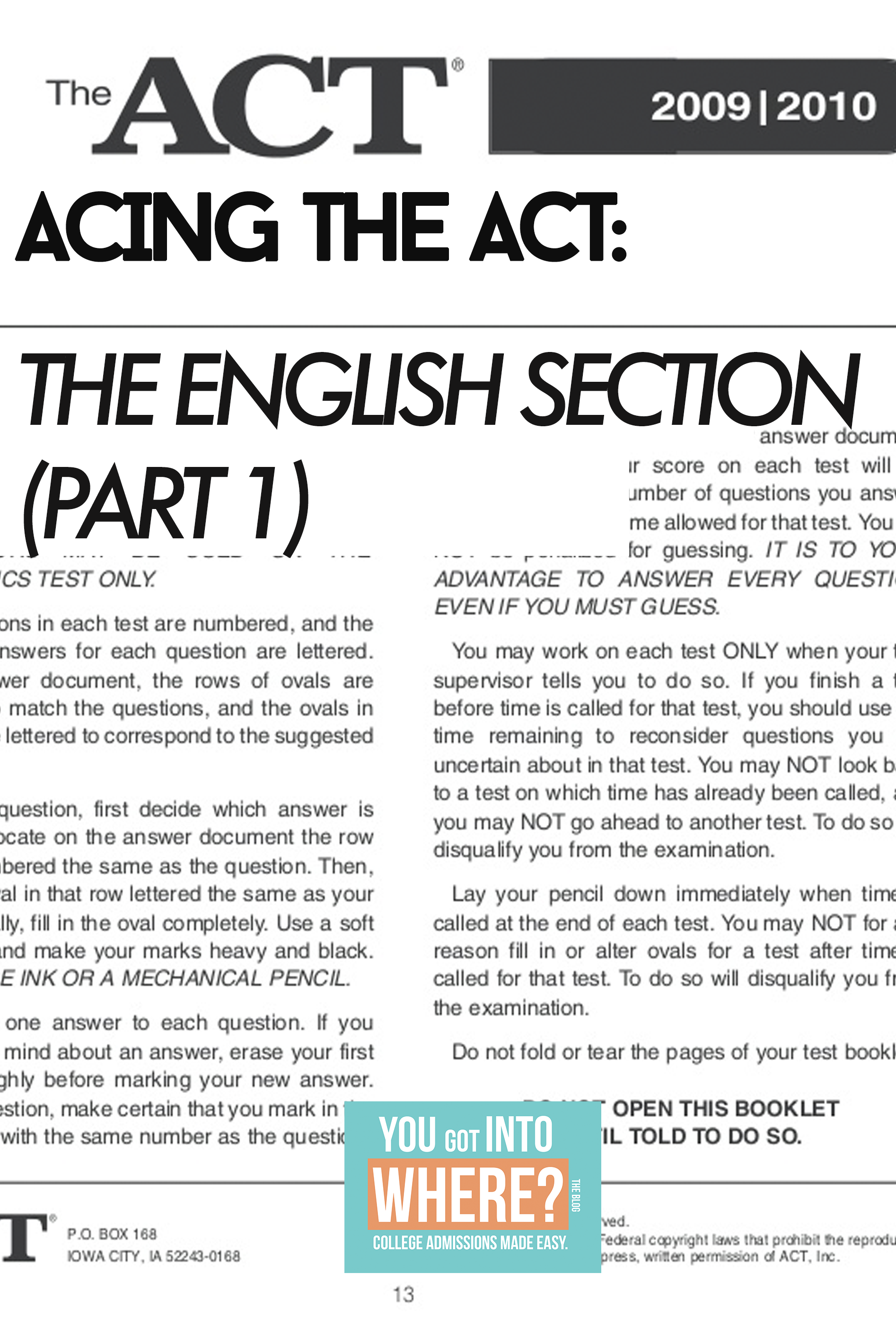Guide To Acing The Act English Section Acting College Essay Exam By Maya Angelou