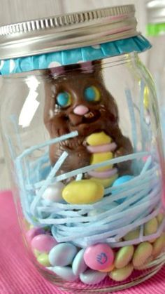 How to make a bunny in a jar cute and quick easter gift idea for how to make a bunny in a jar cute and quick easter gift idea for grandkids teacher neighbor hostess negle Choice Image
