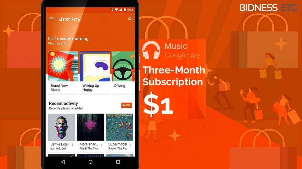 Get 3 Months of Google Play Music for $1