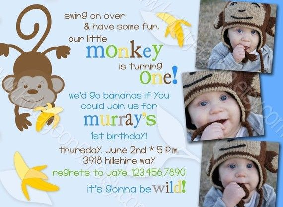 Wording Monkey See Do Our Little Monkeys Are Turning TWO Wed Go Bananas If You Could Join Us For Dylan Jake And Emmas 2nd Birthday
