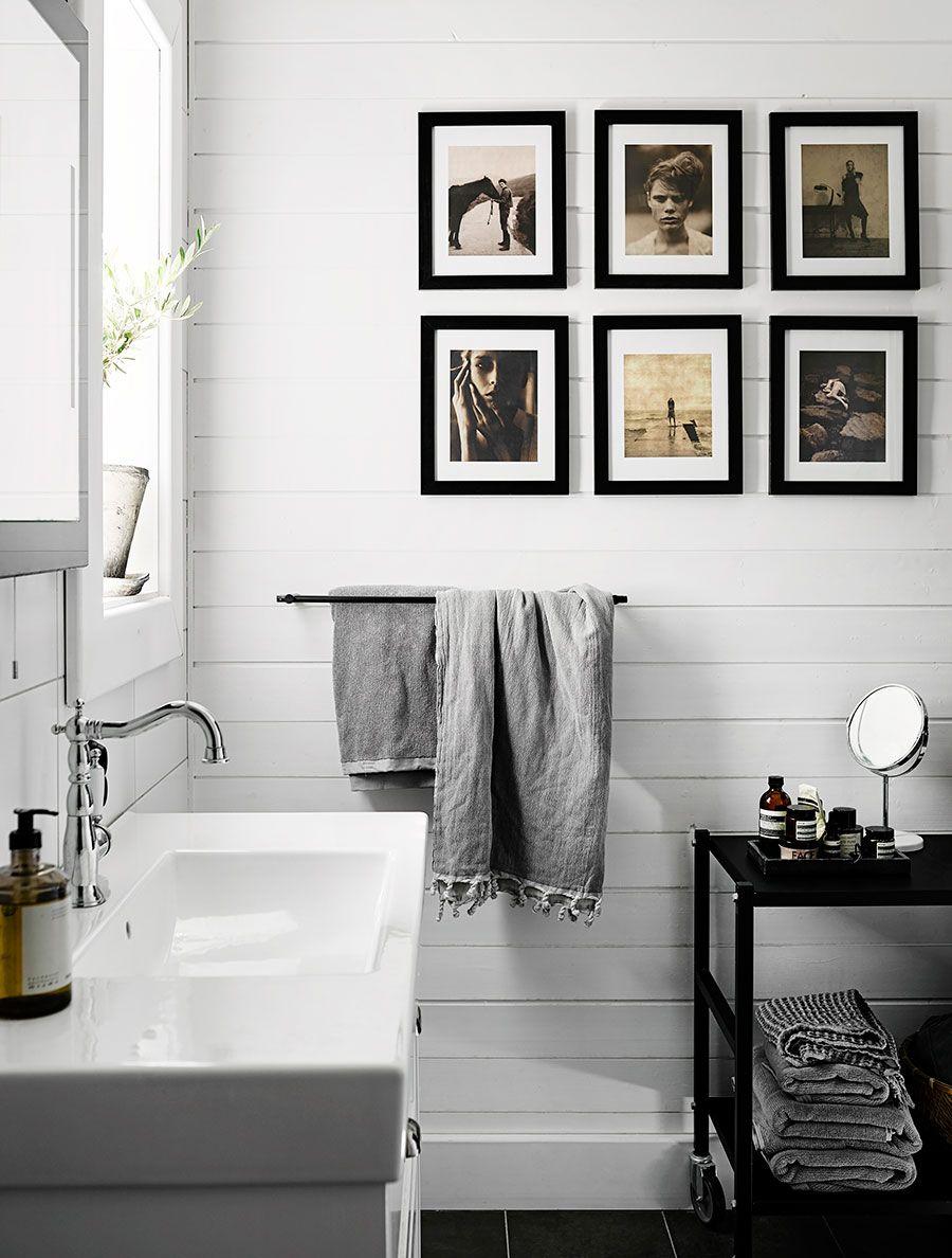 Une villa d\'architecte scandinave en noir et blanc | Déco Salle de ...