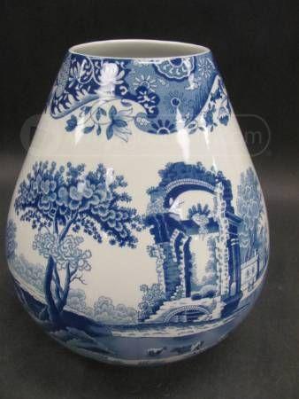 Blue White Spode Vase Italian Spode Design Quilts An Patchwork