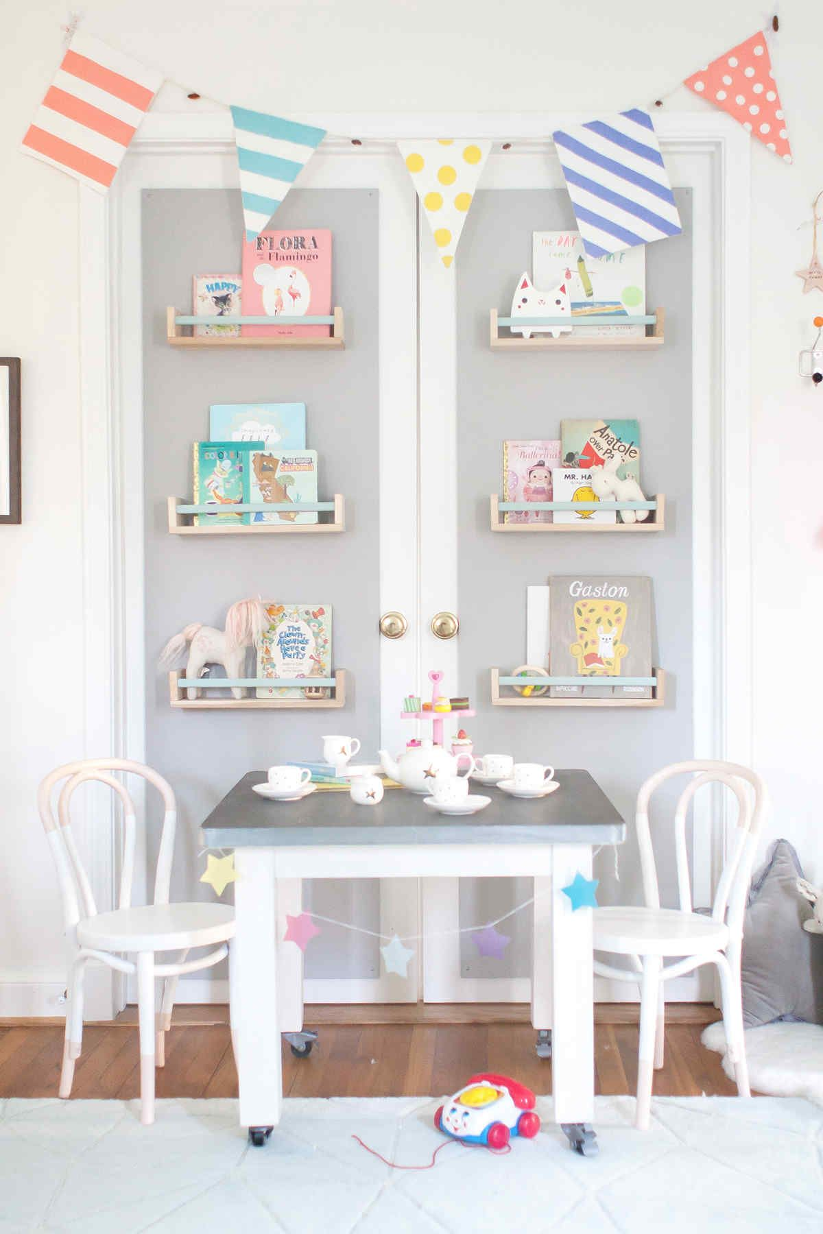 Baby Playroom Ideas Ellie James' Nursery  Paint Dipping Play Table And Porcelain