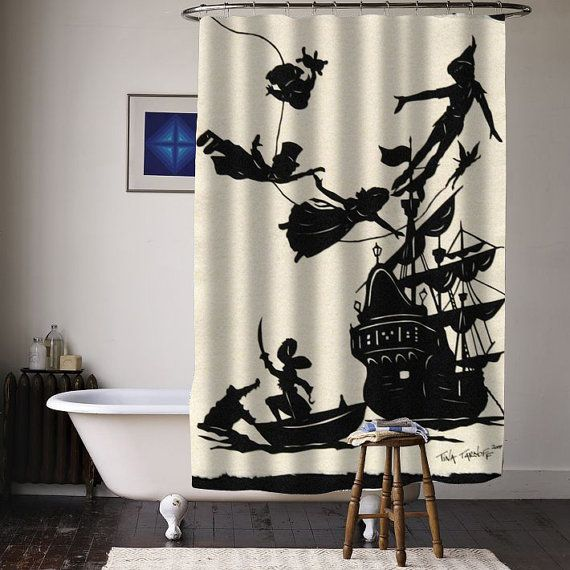 Peter Pan Fly Never Ground Up Special Custom Shower Curtains Available Size From Curtainasu On Etsy Disneyland Peterpan