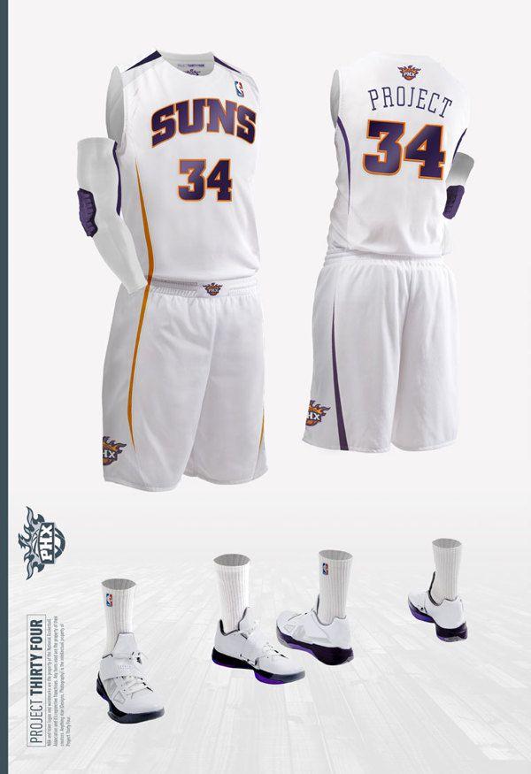 08a07eff8 ... NBA. Phoenix Suns Jersey Concept